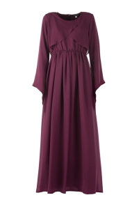 Maroon Chiffon Dress