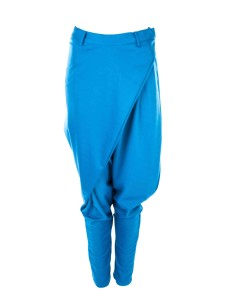 Blue Wrap Over Jersey Harem Pants