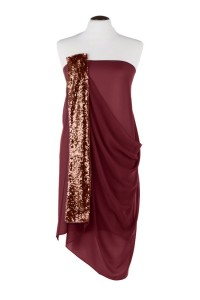 Maroon Sequined Chiffon Wrap
